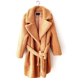 Eloquii | Teddy Bear Sherpa Tan Coat Size 22 24